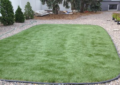 sod and stone landscaping
