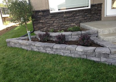 house corner flowerbed