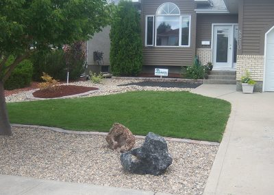 frontyard landscaping project