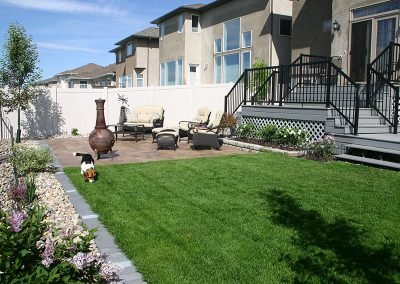 patio and sod